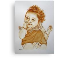 Kiah - (in coffee) Canvas Print