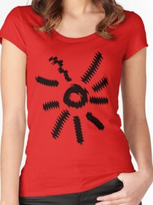 Distorted Sun Women's Fitted Scoop T-Shirt