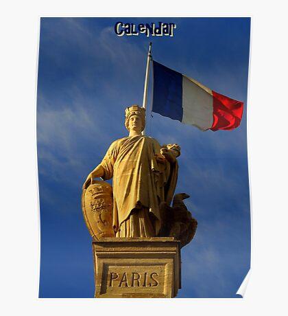 Paris Calendar Cover Poster