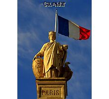 Paris Calendar Cover Photographic Print