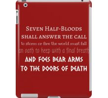 Prophecy of the Seven - White iPad Case/Skin