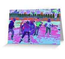 Pond Hockey Greeting Card