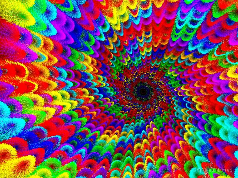 Rainbow Puff World by Virginia N. Fred