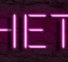 Theta Neon Sign Sticker