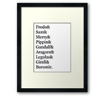 LOTR Characters Framed Print