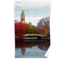 Bow Bridge Reflection Poster