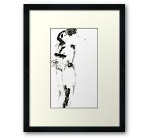 waitress and Fly Framed Print