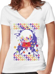 Gumball_Machine Women's Fitted V-Neck T-Shirt
