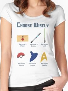 Choose Wisely.... Women's Fitted Scoop T-Shirt