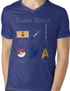 Choose Wisely.... Mens V-Neck T-Shirt
