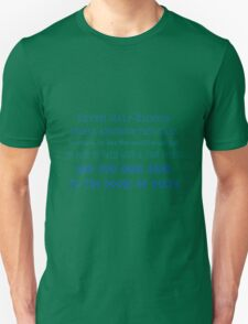 Prophecy of the Seven - Blue Unisex T-Shirt