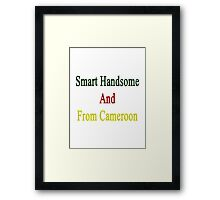 Smart Handsome And From Cameroon  Framed Print