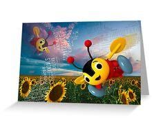 Buzzy Bee - NZ Greeting Card