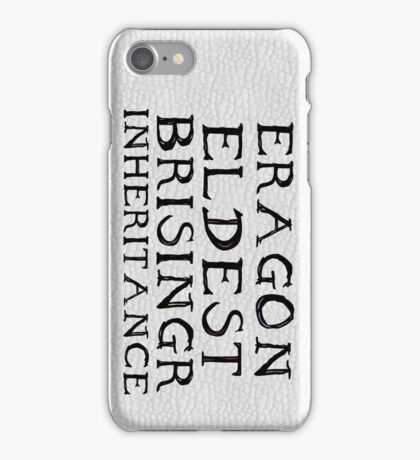 The Inheritance Cycle Typography iPhone Case/Skin