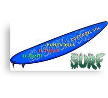 Surf El Salvador Canvas Print