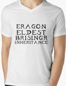 The Inheritance Cycle Typography Mens V-Neck T-Shirt