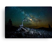 Milky way The White Mountain Canvas Print