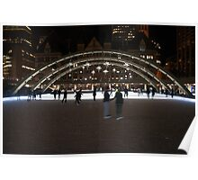 Night Skating At Nathan Phillips Square Poster