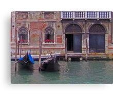 Venetian Gondolas Canvas Print