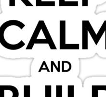 Keep Calm and Build a Snowman Sticker