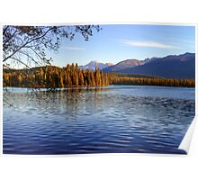 Autumn Afternoon, Lac Beauvert, Jasper Alberta Canada Poster