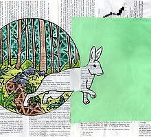 Collage Rabbit Fairy Tale by missmann