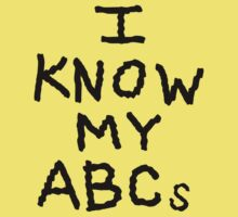 I Know My ABCs Kids Tee