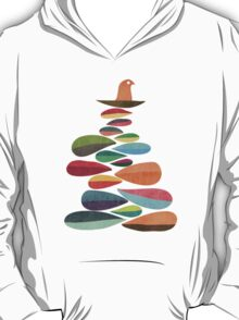 Bird nesting on top of pebbles hill T-Shirt