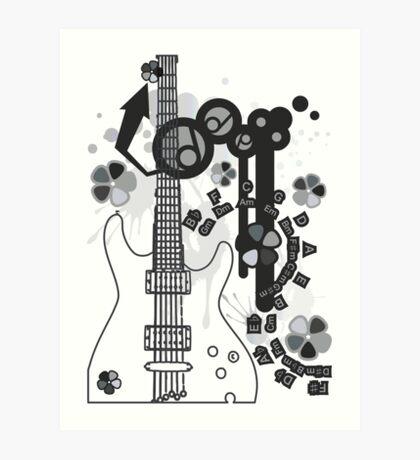 GUITAR-POP TUNES Art Print