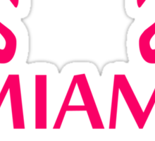 Miami Flamingo Stars Logo Sticker