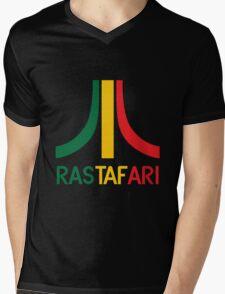 Rasta-Atari Mens V-Neck T-Shirt