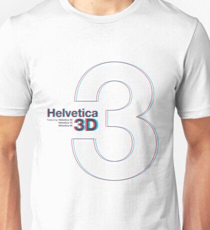 Helvetica 3D Unisex T-Shirt