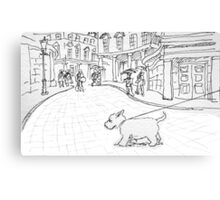 Bath likes dogs Canvas Print