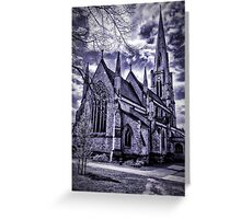 Dramatic gothic style church Greeting Card