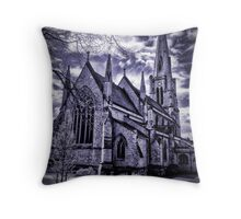 Dramatic gothic style church Throw Pillow