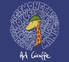 Art Giraffe- Circle of Art by Sundayink