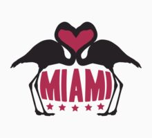 Love Miami Flamingo Stars Logo by Style-O-Mat