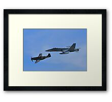 F/A-18 and P51D Heritage Flight Framed Print