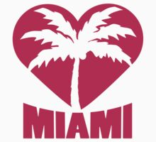 I Love Miami Palm Heart Logo by Style-O-Mat
