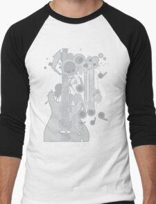 GUITAR-POP TUNES Men's Baseball ¾ T-Shirt