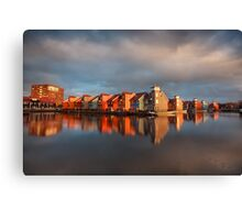 Colorful buildings on water Canvas Print