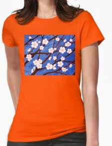 Apple Blossoms Womens Fitted T-Shirt