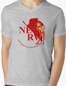 Asuka - Nerv - Neon Genesis Evangelion Mens V-Neck T-Shirt