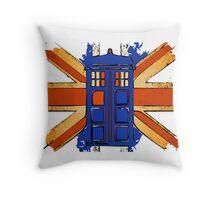 Dr Who - The Tardis - Vintage Jack Throw Pillow