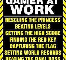 Gamer At Work Poster by GeekGamer