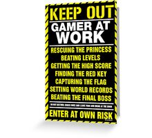 Gamer At Work Poster Greeting Card