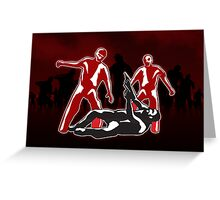 I Hate Zombies Poster Greeting Card