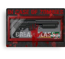 In Case Of Zombies Poster Canvas Print