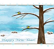 Happy New Year card by Nika Lerman