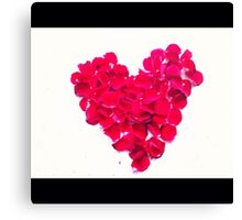 Love and rose petals Canvas Print